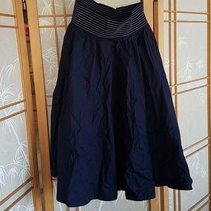 Full navy blue skirt